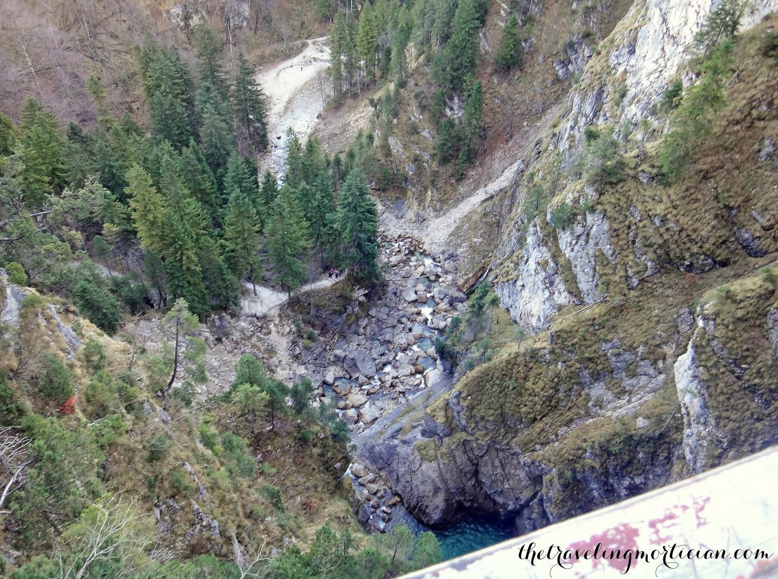 suspension bridge Bavarian Alps