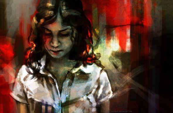 Alice X. Zhang alicexz deviantart pinturas de filmes séries Deixe Ela Entrar