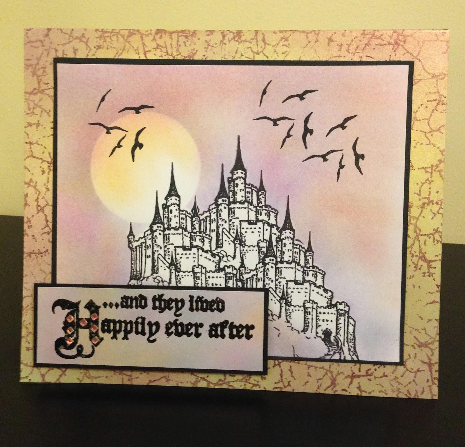 Fairytale castle stamp