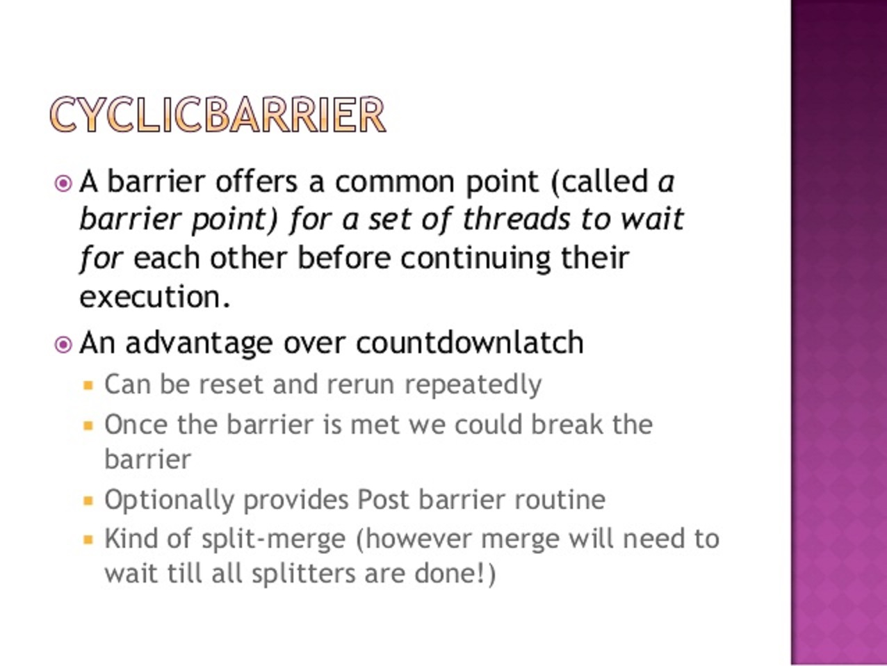 How to use cyclicbarrier in java concurrency tutorial java67 java cyclicbarrier example baditri Gallery