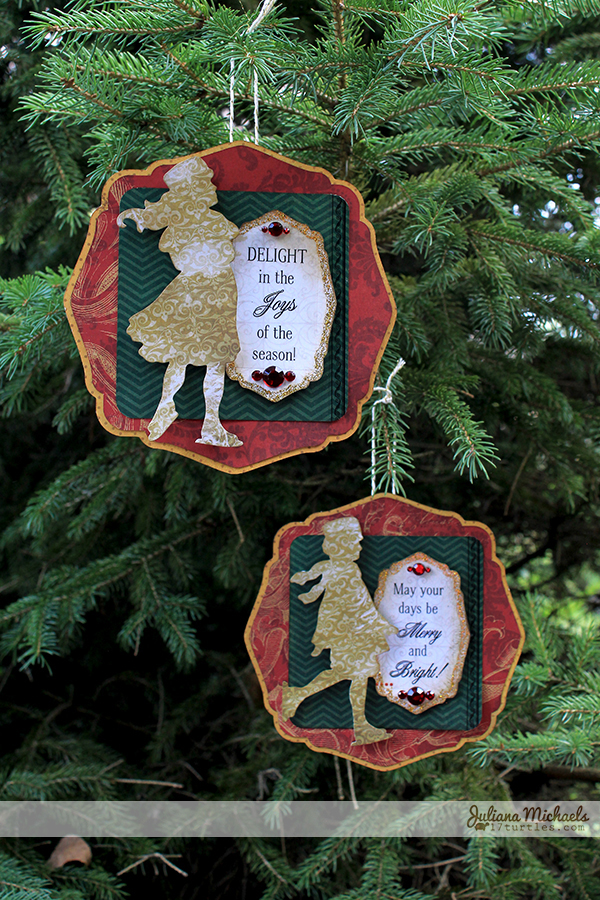 Patterned Paper Christmas Ornaments by Juliana Michaels