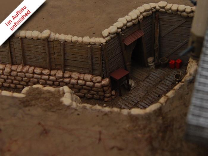 Erster Weltkrieg Diorama eines englischen Schützengrabens mit Tank und Soldaten, Diorama of a British Trench in WWI Bild 3
