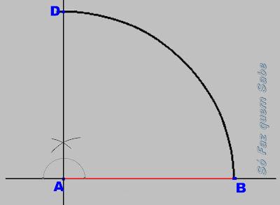 Determinando o terceiro vértice do quadrado.