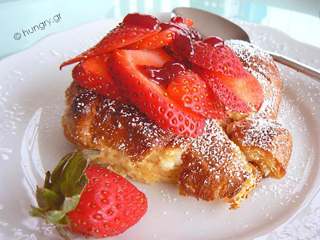 Γαλλικό Τοστ με Φράουλες