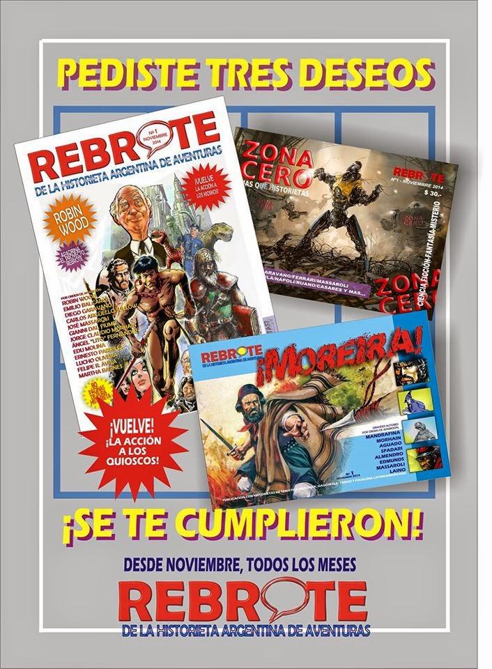 En el 2015... ¡¡¡Tres nuevas revistas de historietas,TRES!!!
