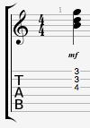 G major triad