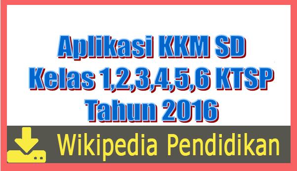 Aplikasi KKM SD Kelas 1,2,3,4,5,6 KTSP Tahun 2016 Excel