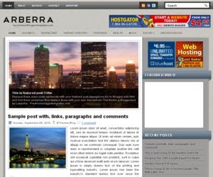 Arberra Blogger Template