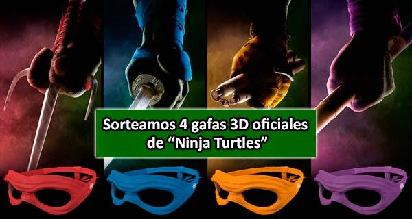 """Sorteamos 4 Gafas 3D oficiales de """"Ninja Turtles"""""""