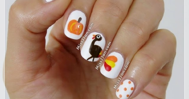 Missjjans Beauty Blog Cute Thanksgiving Turkey Nail Art Tutorial