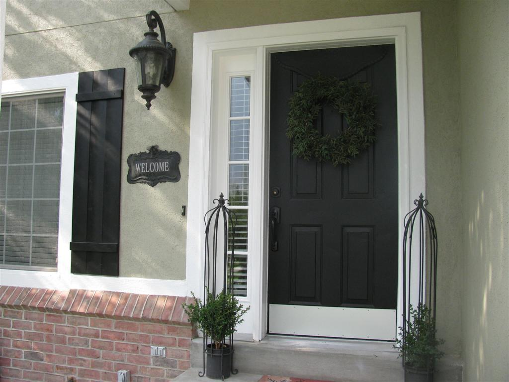 Love of homes exterior paint reveal for Black wooden front door