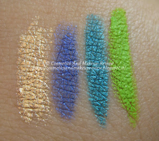 Pupa - Coral Island - Made To Last Eyes 203, 402, 502, 503 - swatches
