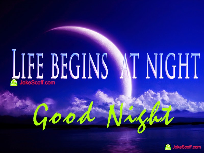 Funny Beginning Quotes Life Begins at Night