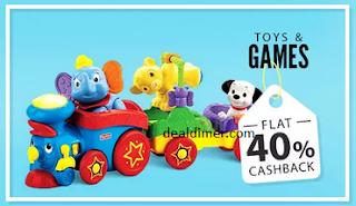 Toys & Games Extra 40% Cashback