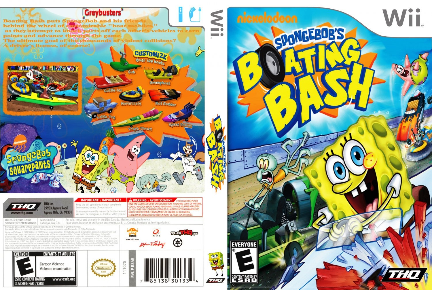 Capa Spongebobs Boating Bash Wii