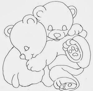 desenho de ursinhos dormindo para pintar