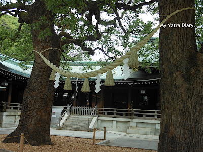 The sacred rope in the Meiji Jingu Shrine complex, Tokyo