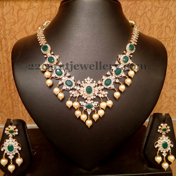 Traditional look CZ Necklace