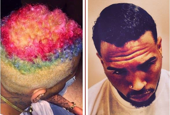 Chris Brown shows off new look, dyes hair jet black