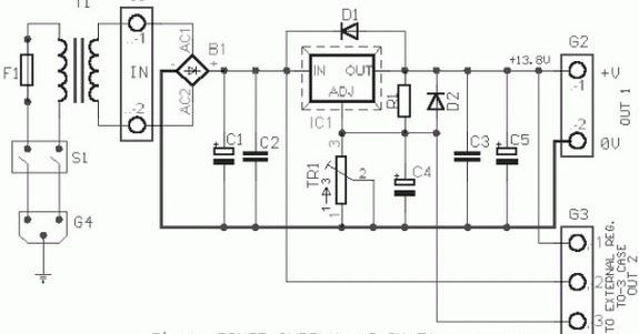 12 volt    5 ampere regulated power supply based on lm338