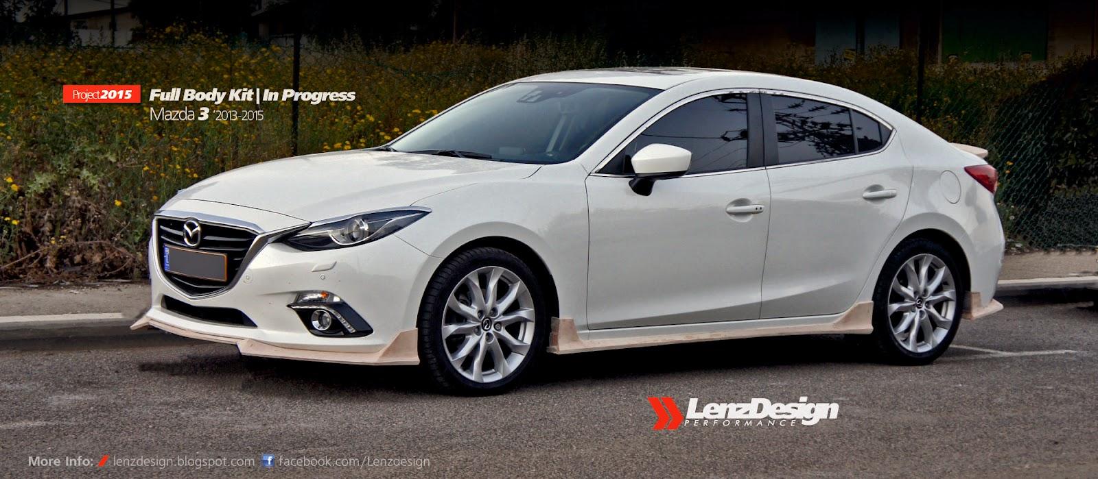 Mazda 3 Hatchback White 2017 >> Mazda 3 BM Axela Tuning & Body Kit Lenzdesign Performance 2013 2014 2015 2016 2017 2018