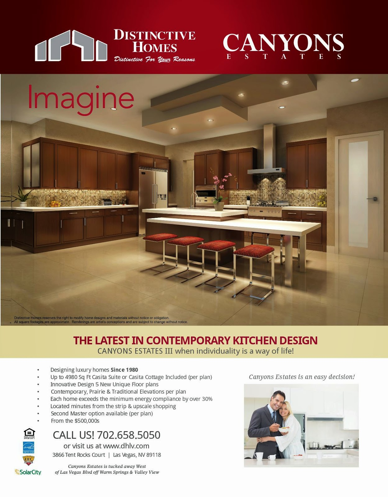 Distinctive Homes Las Vegas New Contemporary Kitchen Design