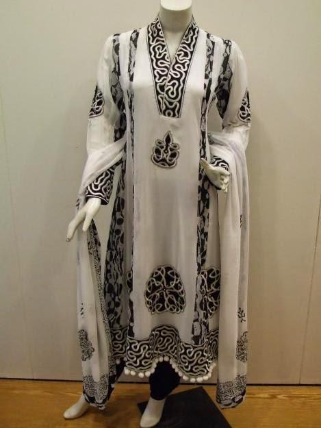 White black combination suit