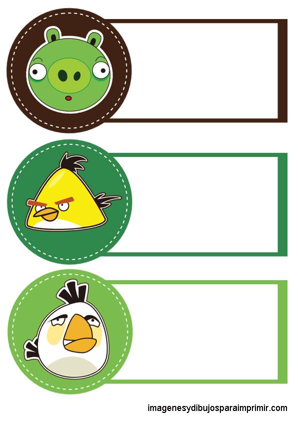 Angry Birds Para Imprimir Etiquetas