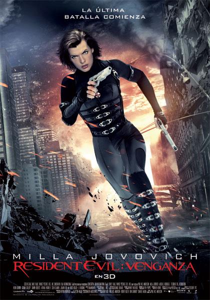 Cartel de la película 'Resident Evil: Venganza', protagonizada por Milla Jovovich y Michelle Rodriguez. Estrenos Making Of. Cine
