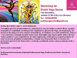 Curso livre de Shakti Yoga Dance: 4 horas dia 18 de Novembro ou 9 de Dezembro, 6a feira, 15h-19h
