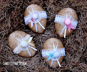 Rustic and Frilly Easter Eggs