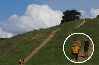 Spartan Race. Subiendo la montaña con un saco a cuestas