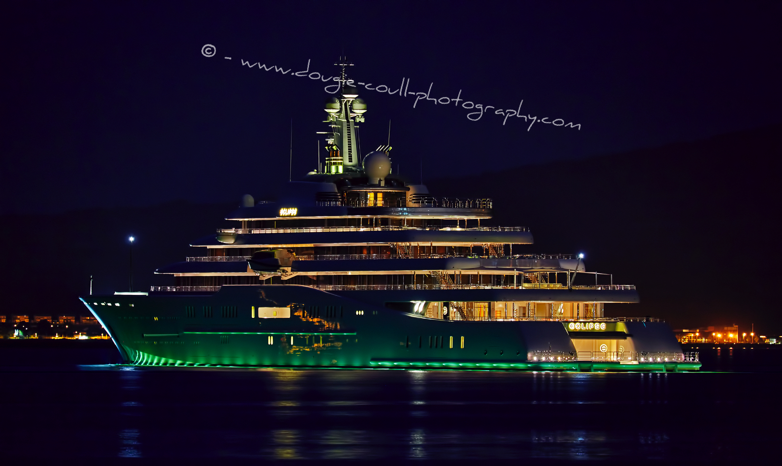 Dougie Coull Photography Eclipse Superyacht In Greenock