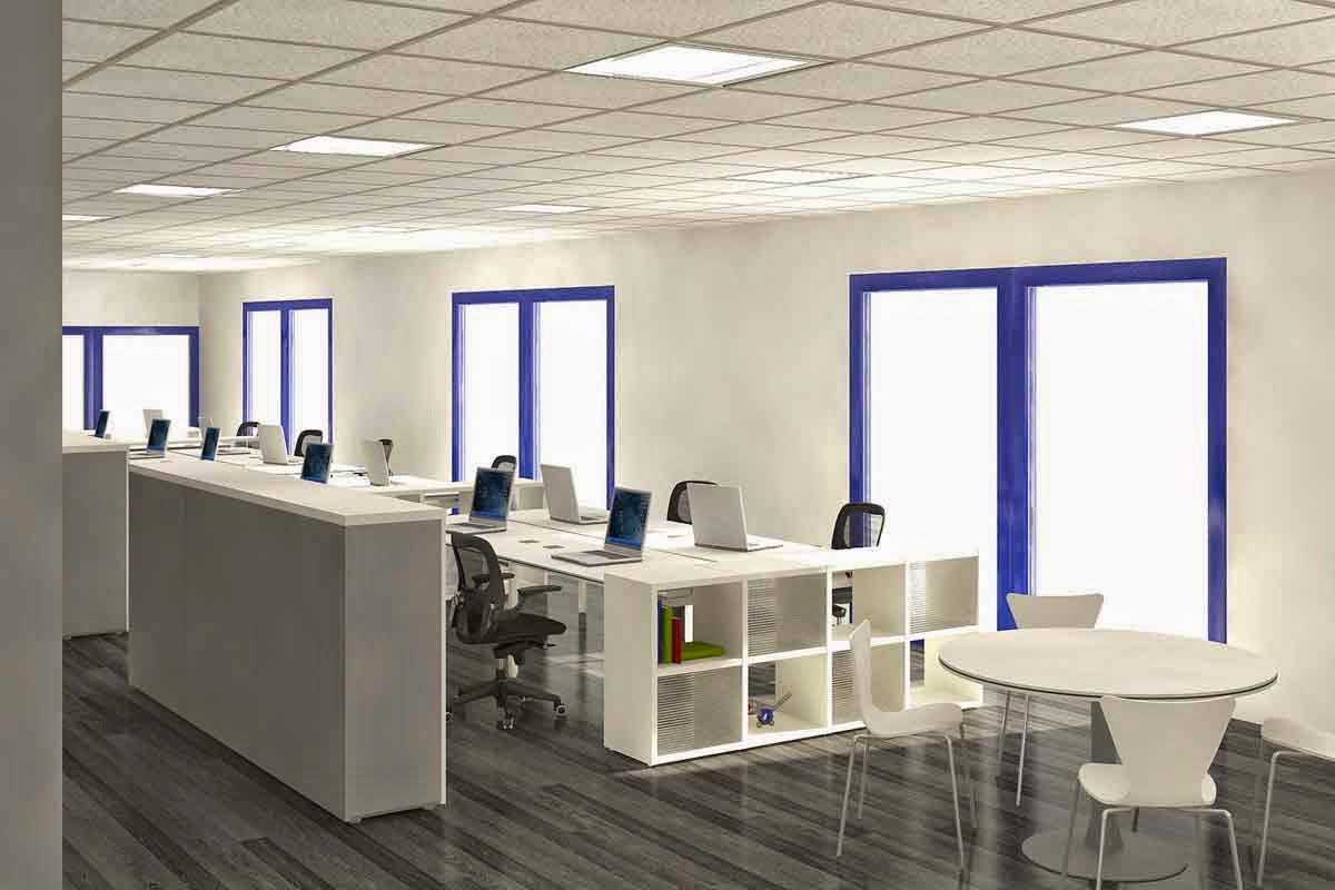 7 tata ruang kantor modern anugerah dino for Google office interior designs pictures