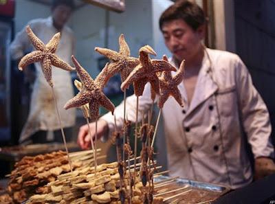 fried starfish