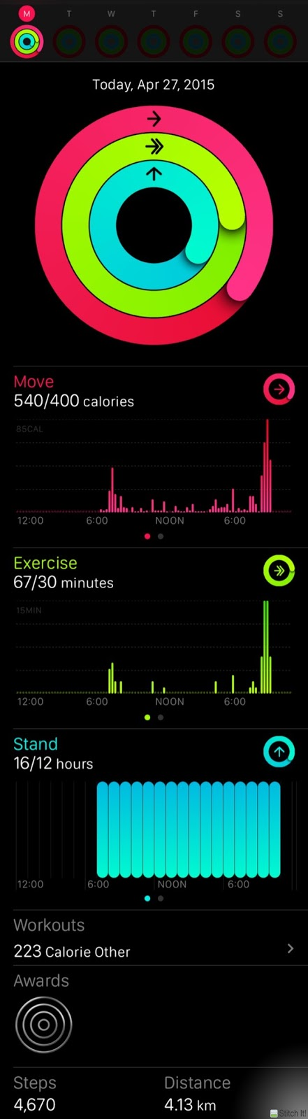 iPhone Activity App Move Exercise Stand