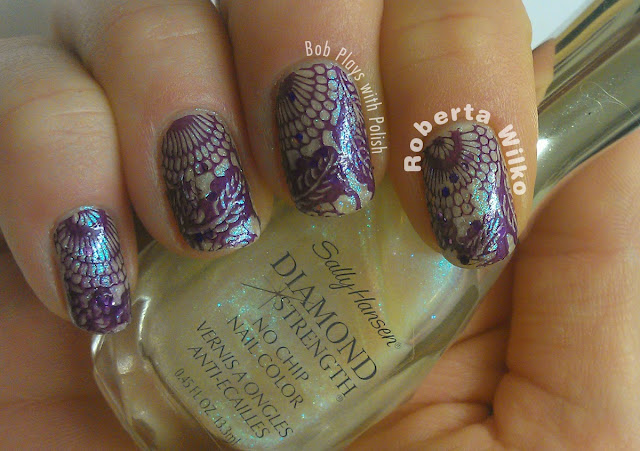 Moyou London Stamping Plate Suki Collection 05 Sailor 04 with Barry M on Sally Hansen