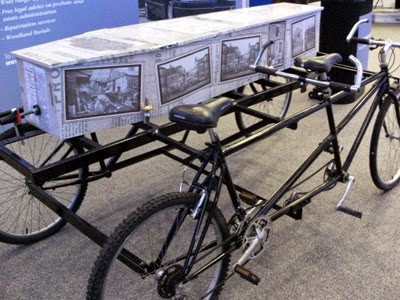 Bombardment coffin and bicycle hearse