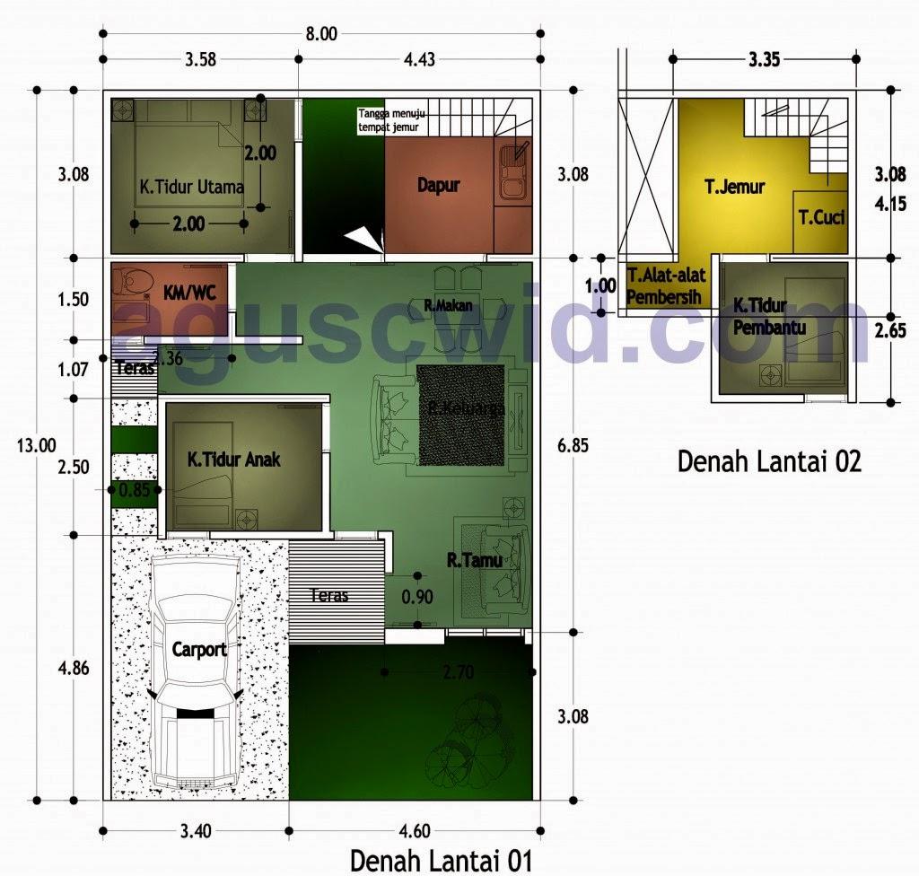 Gambar Denah Dan Model Rumah Minimalis Modern