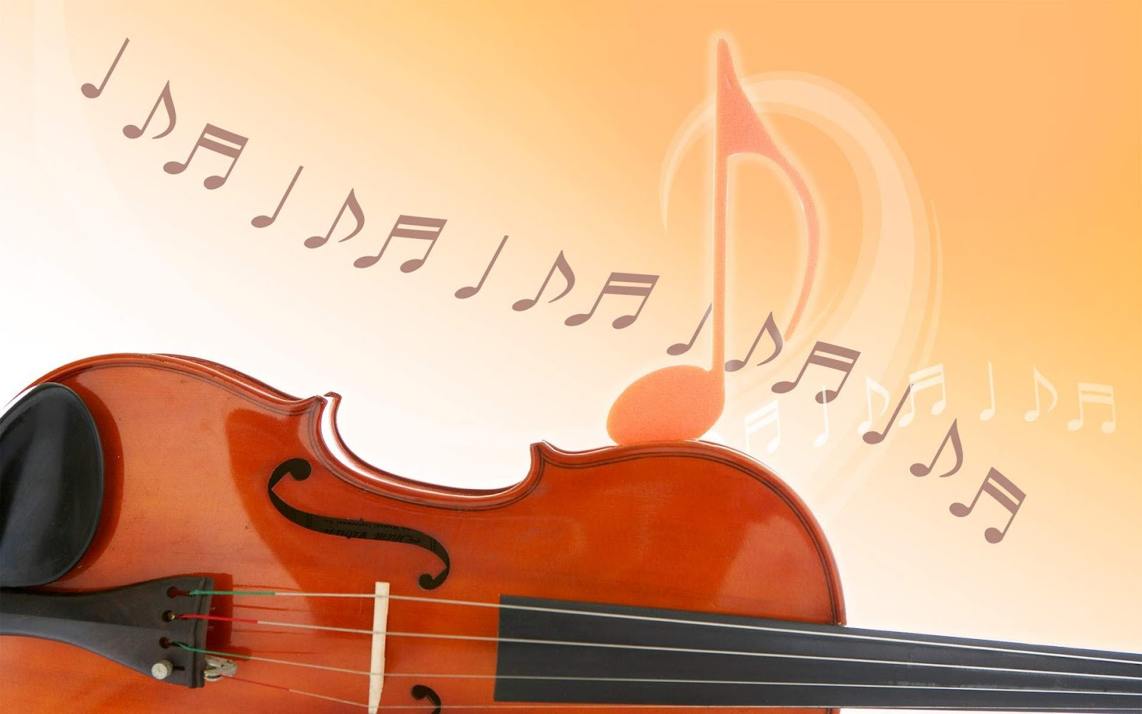 Violin with music notes wallpaper - Music Violins Collection