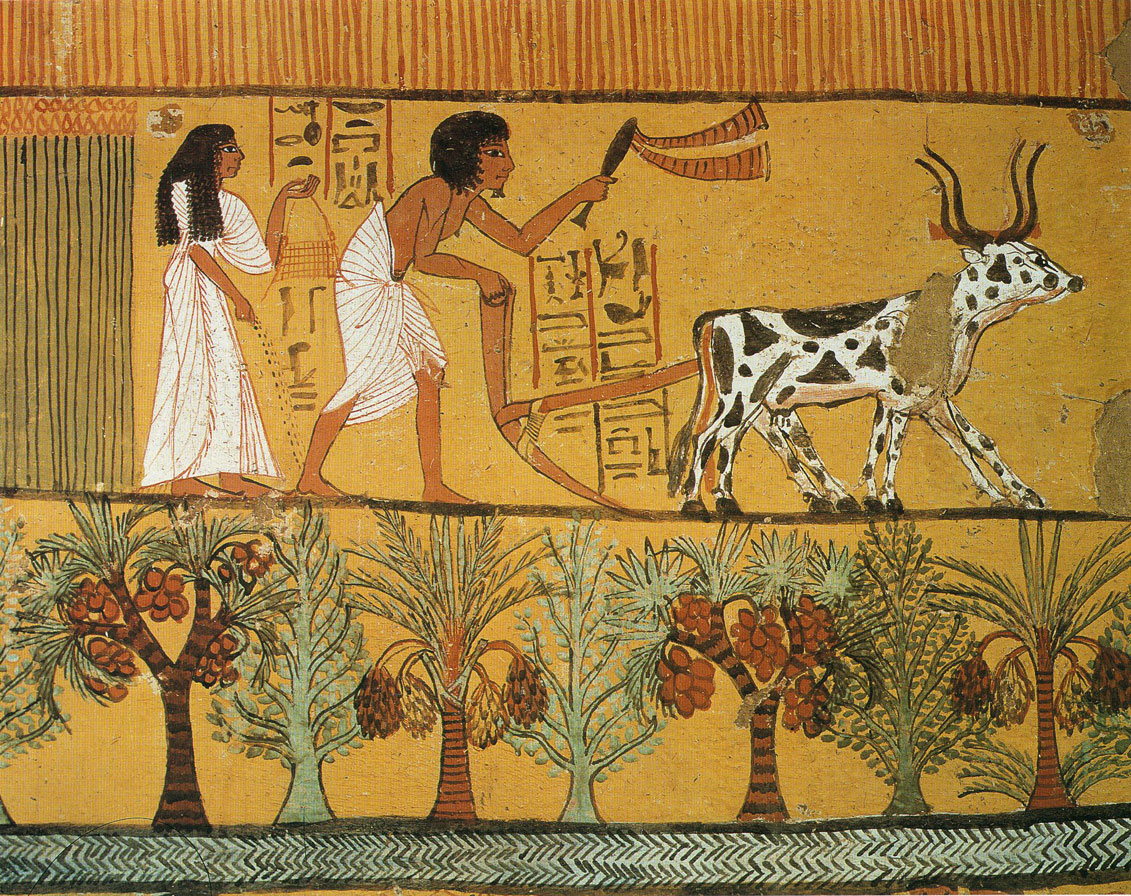 Evolving relationship between humans and nature for Egyptian mural art