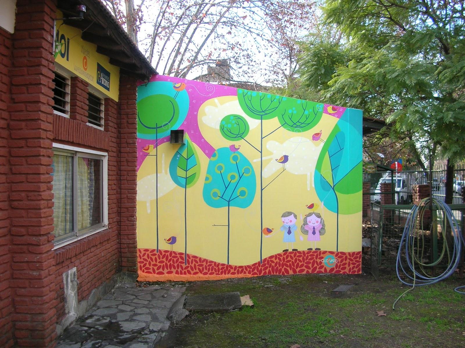 Quo vadis murales portfolio for Decoracion jardin infantes