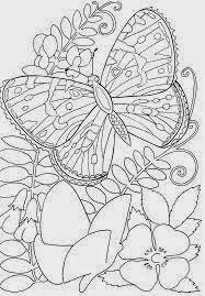 Mewarnai gambar bunga dan kupu-kupu untuk anak 16
