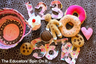 sewing set for kids, felt food, felt cookies, home made gifts for kids