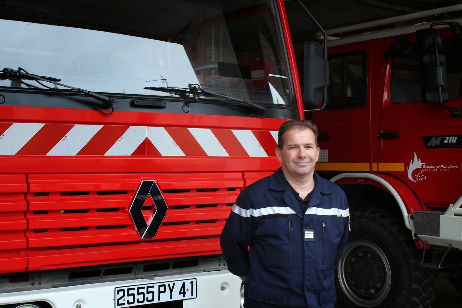 Freddy LEVEAU - Chef de Centre des Pompiers de Cour-Cheverny