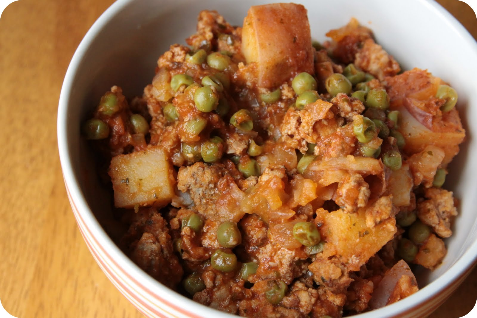 ... ever after: recipe: ground turkey with potatoes and spring peas