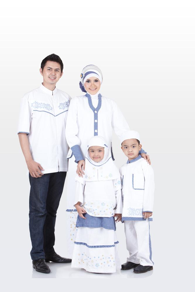 10 Model Baju Muslim Keluarga Warna Putih Terbaru 2017, KEREN