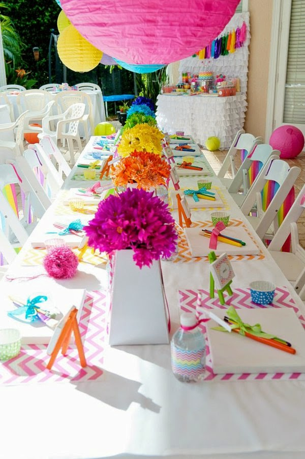 Beautiful Decoration For Birthday Party : Ideas for Table decoration for birthday party of your child