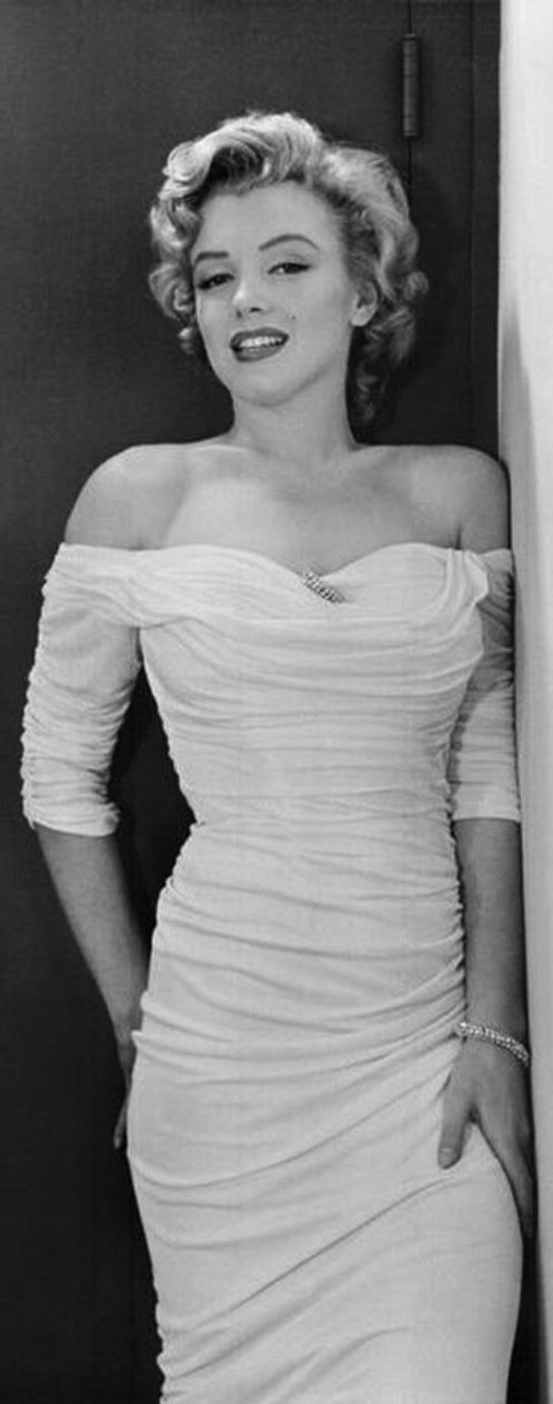 Marilyn Monroe in a white dress for Life Magazine, 1952
