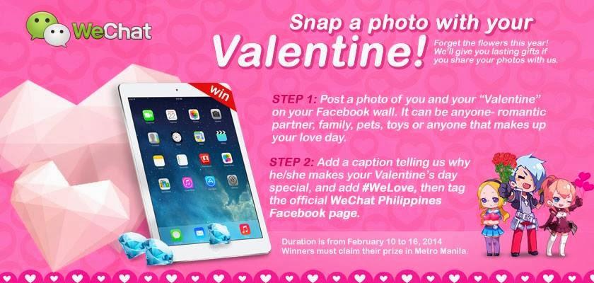 WeChat Valentine's Day 2014 Facebook promo